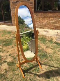 Cheval free standing adjustable full length mirror