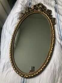 Gold vintage mirror