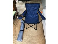 2 x Steel foldable camping chairs