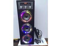 Pure Acoustics MCP-30 Portable Karaoke Machine w/ Mic for Smartphone, Ipod
