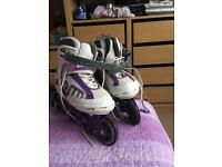 Roller blades size 5 and size 3