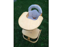 Quality Sven of Sweden High Chair (needs straps) in good condition, but cushion a little worn