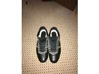 Lacoste Black Leather Trainers Size 9(Chaymon style)