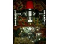 2 x Boss thermostatic mixing valve
