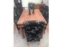 Sheesham dining table & 6 dining chairs