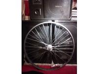 Alloy front wheel fixie SS track 700c large flange high hub nut fixing bike single speed SWAP POSS