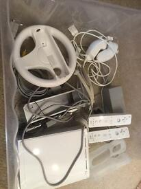 Wii console and 4 games