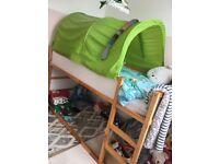 Ikea Kura Reversible Kids Single Bed Bunkbed Childs Tent Pine