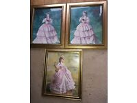 3 Elegant Pictures Of Ladies In Old Fashioned Dresses