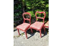 Seven Harlequin Dining Chairs