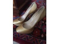 Casadei gold shoes size 37