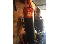 Lonsdale Punch Bag with wraps gloves excellent condition