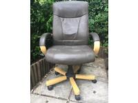 Leather desk chair - *** SOLD on 31/08/17 ***