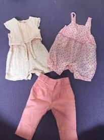 6-9 months baby girl summer bundle clothes