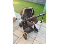 Graco Evo Baby Travel System (Car Seat, Pram and Carry Cot) - Black/Charcoal