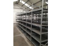 JOB LOT 10 bays of supershelf industrial shelving AS NEW ( storage , pallet racking )