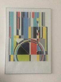 Two London Olympics 2012 art prints - framed