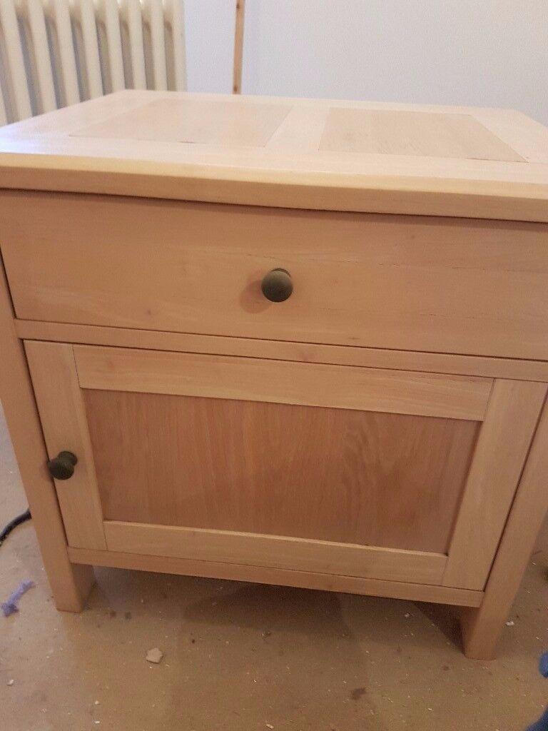 Solid Wood Bedside Table Storage Cabinet