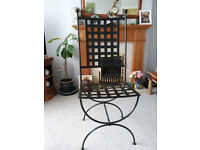 Metal Gothic / Medieval / Throne Style Upright Chair