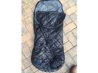 Uppababy ganoosh footmuff - black - £15