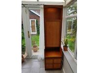Retro vintage teak Nathan cabinet unit drinks cupboard display