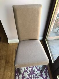 6 Dining Room Chairs Brand New - Hessian/Beige