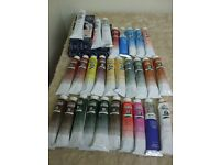 Winsor and Newton 34 tubes (200ml) of Artists Oil Paints, New and unopened.