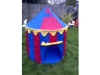 colorful kids outdoor play tent house in excellent condition