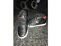 Boys Lacoste trainer boots size 11