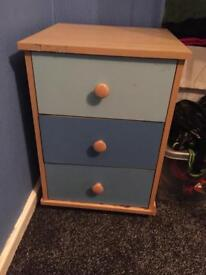 Wardrobe and bedside table