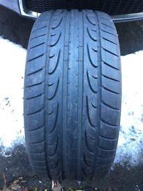Dunlop SP Sport MAXX J tyre 255 35 20 Jaguar rated. 5-6mm tread