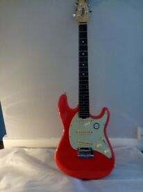 Sterling Cutlass CT50 by Musicman,Fiesta Red.BNIB.