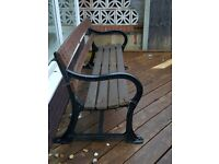 Victorian Cast Iron Garden/Promenade Bench - Price Reduced