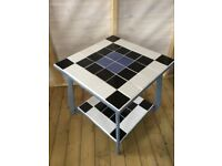 LOVELY TILED TABLE WITH ORIGINAL ART DECO LEGS
