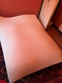 Memory foam mattress topper, king size
