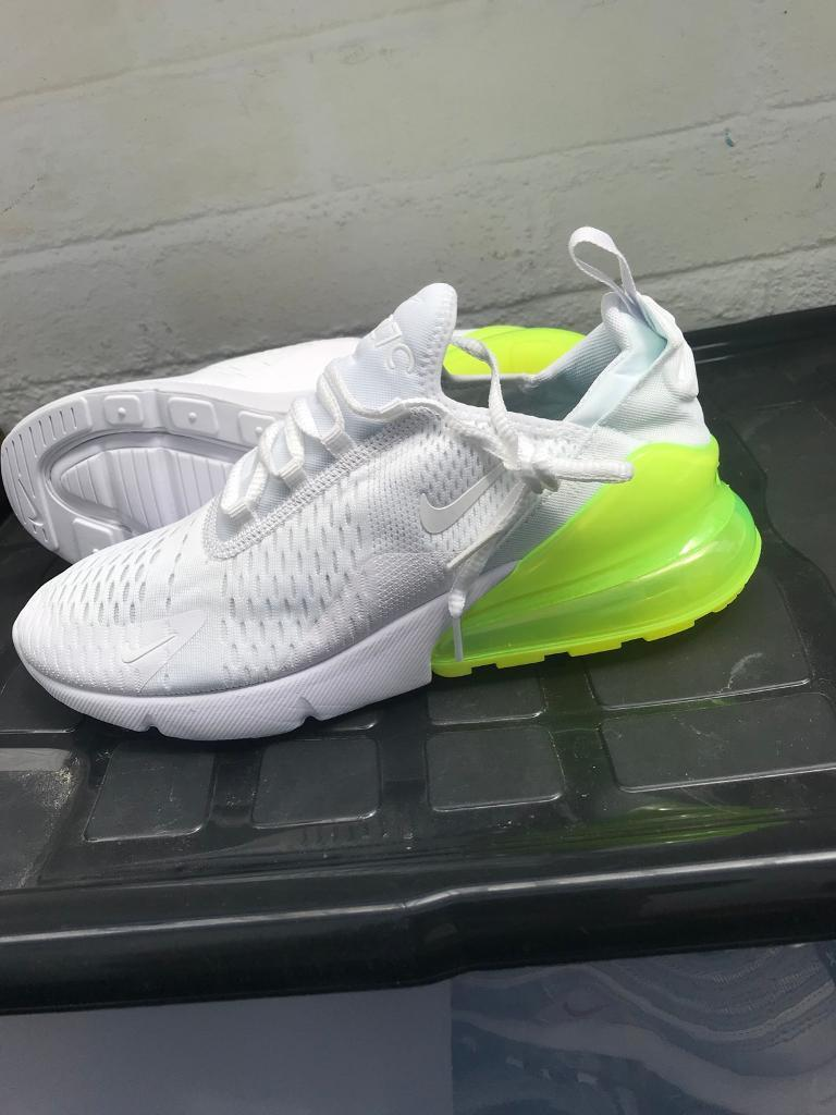 sports shoes 44201 be7f9 Nike Air Max 270 White/ Volt Size UK 10 Eur 45 Brand New in Box | in ...