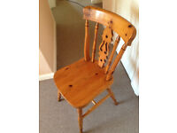 Single pine wood chair