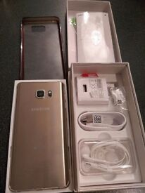 SAMSUNG GALAXY NOTE 5 GOLD 32 GB 4G LTE DUAL SIM UNLOCKED ANY NET WORK MINT CONDITION AS NEW