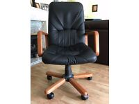 Leather Swivel Office Desk Chair