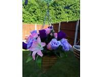 Hanging basket artifical flowers