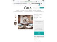 *BARGAIN* Oka - New Designer Dining TABLE rrp £2,355 - 1 mnth old **Poss Del