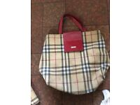 Used Burberry bag and purse for sale