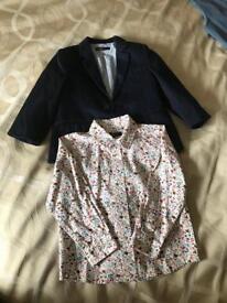 M&S boys shirt and jacket set 3-4 years