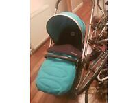 Oyster 2 buggy/carrycot in ocean blue