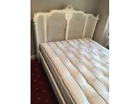 Antique Style Handmade French King Size Bed & Mattress