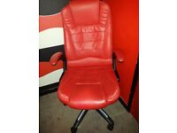 Red Leather Computer chair