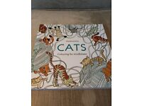 Cats adult colouring book brand new
