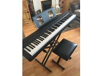Yamaha P-45 Digital Piano, including pedal, stand, stool and travel case