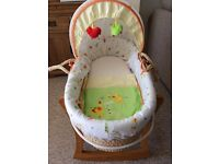 Moses basket with rocking stand from mothercare - good condition