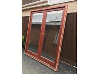 Hardwood french doors